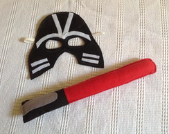 Kit Máscara e espada Jedi Star Wars