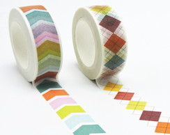 2 Fitas Adesivas Washi Tape 15mm x 10m