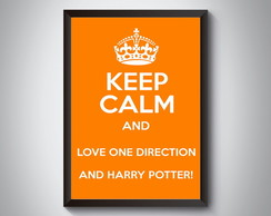 "Quadro ""Keep Calm One Direction Harry"""