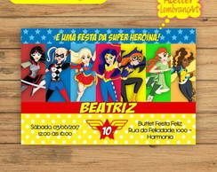 Convite Digital Super Hero Girls