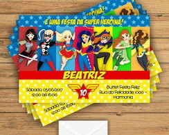 Convite Super Hero Girls
