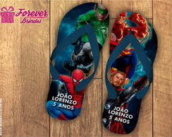 SANDÁLIAS CHINELO SUPER HEROIS