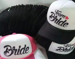 Kit 47 bonés trucker bride team bride