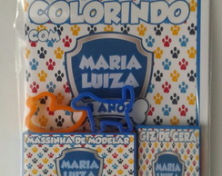 Kit Colorir Com Massinha Patrulha Canina