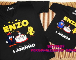 kit camiseta aniversario