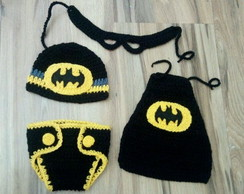 Conjunto batman Newborn croche