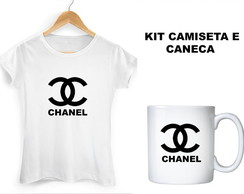 Kit Camiseta e Caneca Chanel