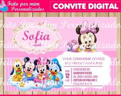 Convite Digital Turma do Mickey Baby