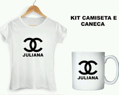 Kit Chanel camiseta e caneca