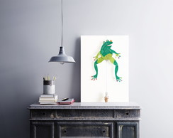 "Placa decorativa ""Frog"""