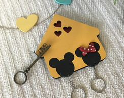Casinha porta chaves Casal Mickey Mouse