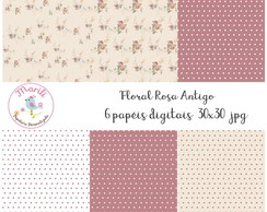 Kit Floral Rosa Antigo