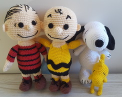 Kit Turma do Snoopy em Croche