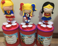 Centro de mesa Super Hero Super Girl