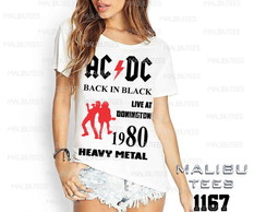 T-shirt acdc heavy metal rock pop king