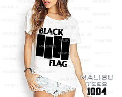 T-shirt black flag banda de rock