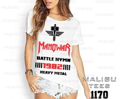 T-shirt Manowar haevy metal banda rock