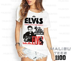 T-shirt king of pop music world elvis