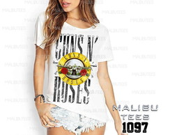 T-shirt guns roses rock roll banda pop