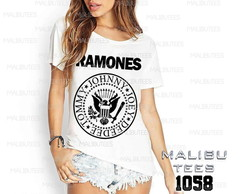 T-shirt ramones rock roll banda pop