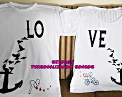 kit camiseta love