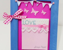 Porta-Recado Decorado Scrapbook
