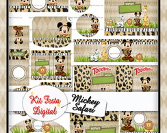 Kit Festa Digital Mickey Safari