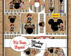 Kit Festa Digital Mickey Pirata