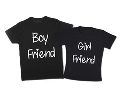 Kit Camisetas Casal Girl/Boy Friend