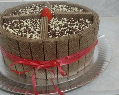 Bolo de Chocolate com Wafer