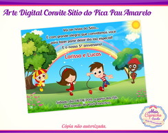 Convite Digital Sítio do Pica Pau Amarel