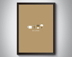 "Quadro ""Love Coffee"""