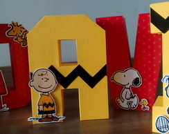 Letras Box 3D Snoopy
