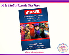 Convite Digital Big Hero