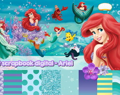 Kit scrapbook digital Ariel + Brinde