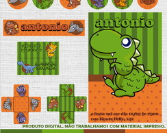 Kit Festa Digital - Dinossauro