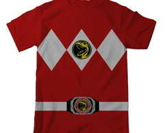 3 Camisetas Power Rangers - Manga Longa