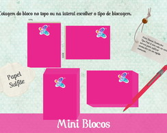 50 Blocos Mini Blocos tipo post it
