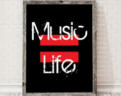poster Music Life 907 30x40