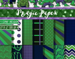 Kit Papel Digital hulk