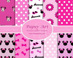 Kit Papel Digital minnie rosa 02