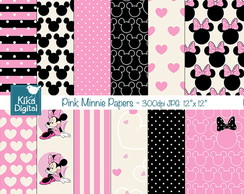 Kit Papel Digital minnie rosa 03