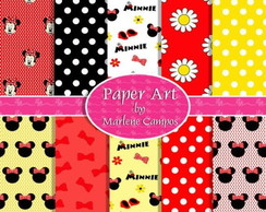 Kit Papel Digital minnie vermelha