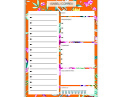 DESK PLANNER DIÁRIO FLORAL ORANGE