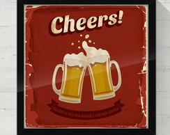 Quadro Decorativo Cheers! 30x30