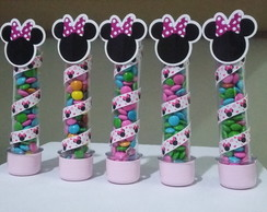 Tubete Decorado Minnie Rosa
