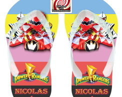 Chinelo Brinde Power Rangers Unissex