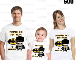 kit camisetas aniversario batman cut 600