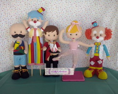 Kit circo com 5 personagens