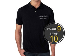Camisa Polo Pague 9 e leve 10 *Bordado